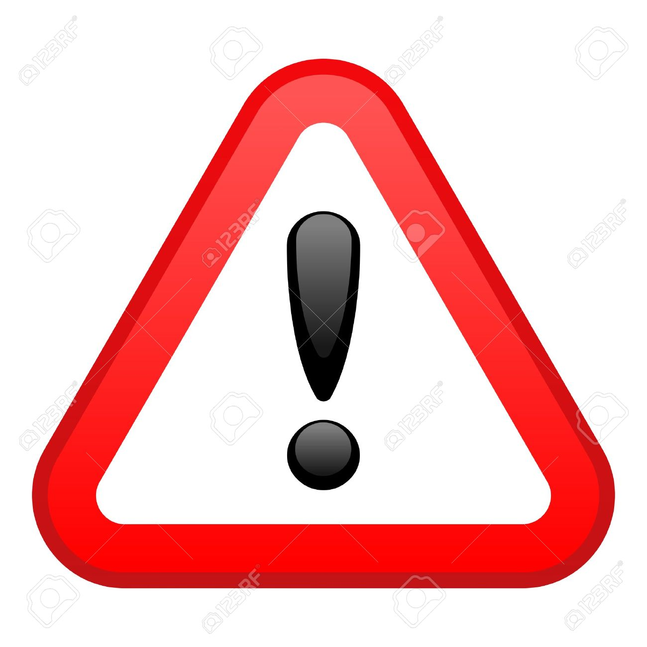 Warning Red Triangular Sign Stock Vector - 5536864