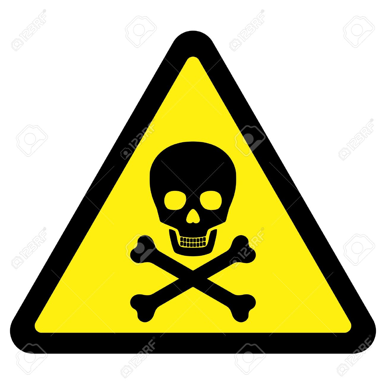 deadly danger sign royalty free cliparts vectors and stock