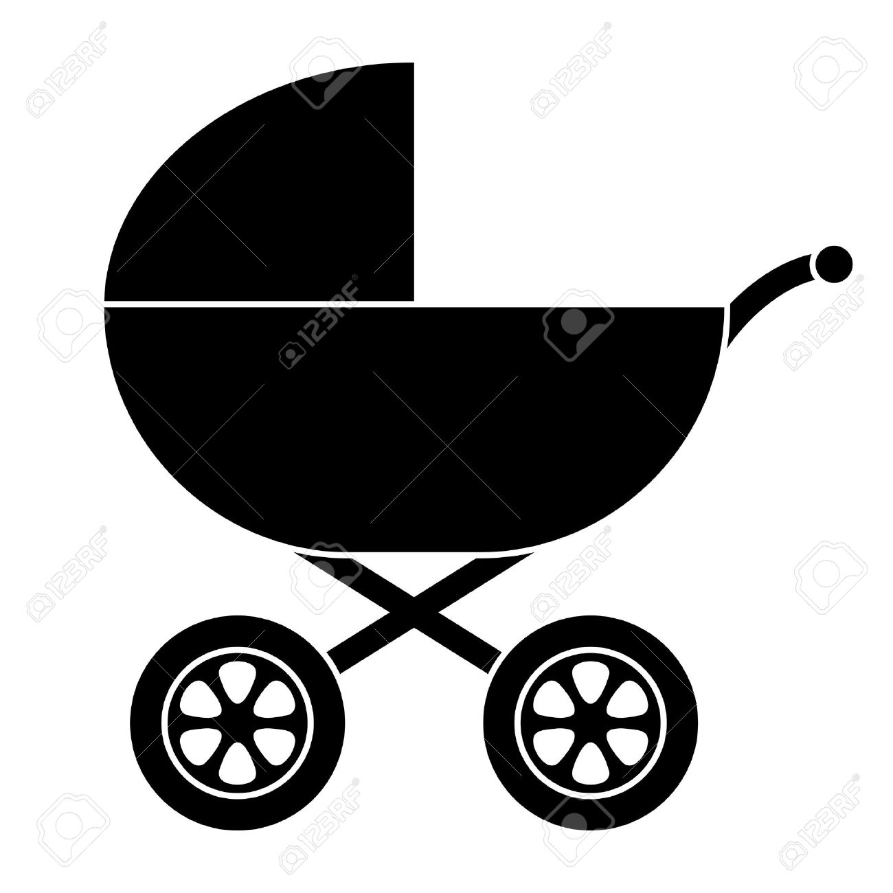 Baby Carriage Silhouette - 5710299
