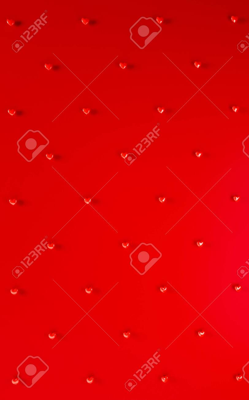 Valentines Day Hearts Background Pattern Bold Red Color Flat Stock Photo Picture And Royalty Free Image Image 139258236