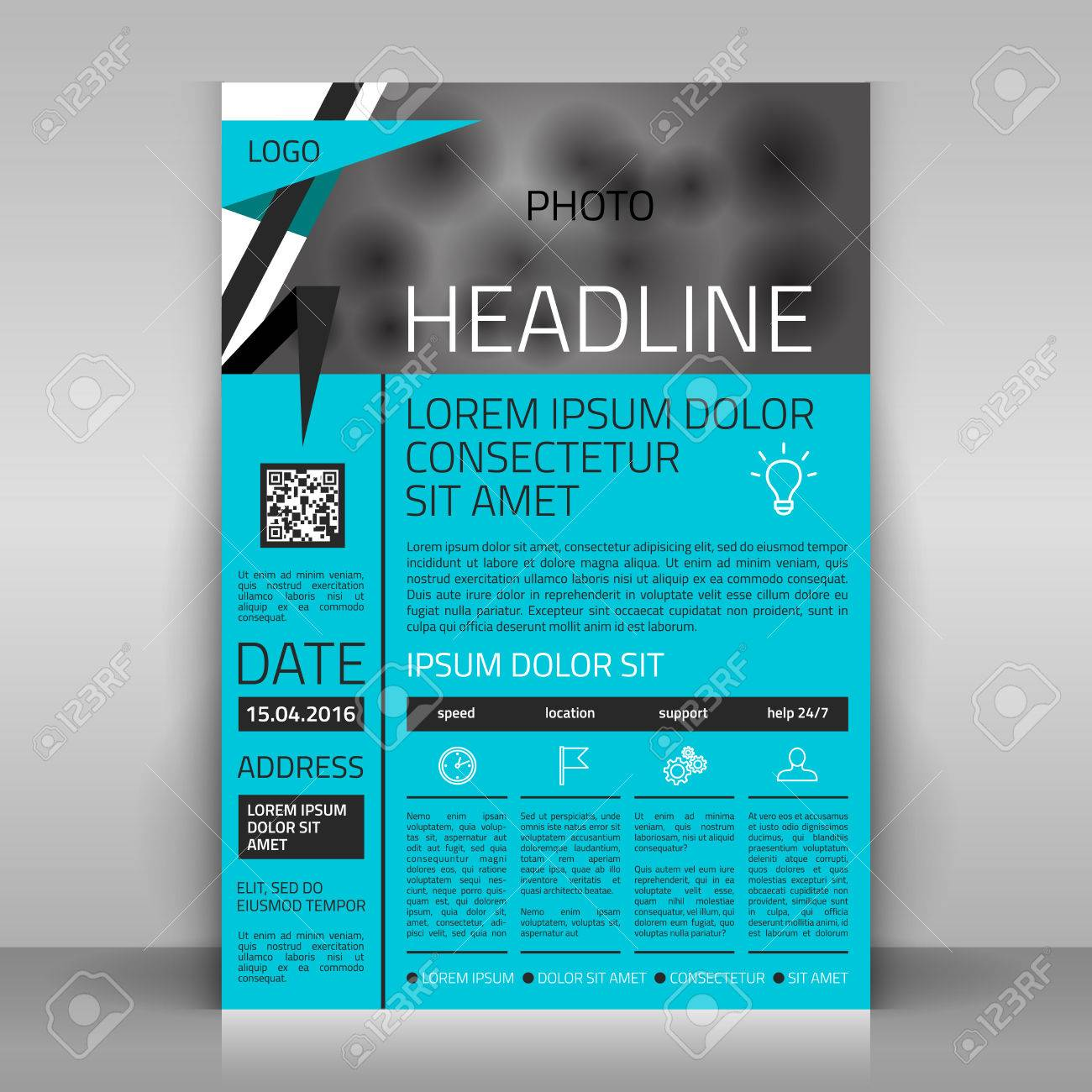 business flyer design broshure cover template vector mock up business flyer design broshure cover template vector mock up stock vector 36239155
