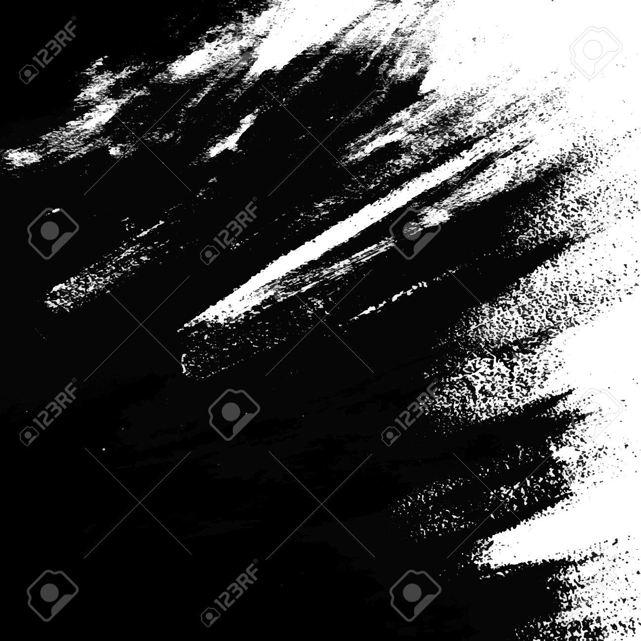 Vector Textura Artística Fondo De La Pintura En Blanco Y Negro