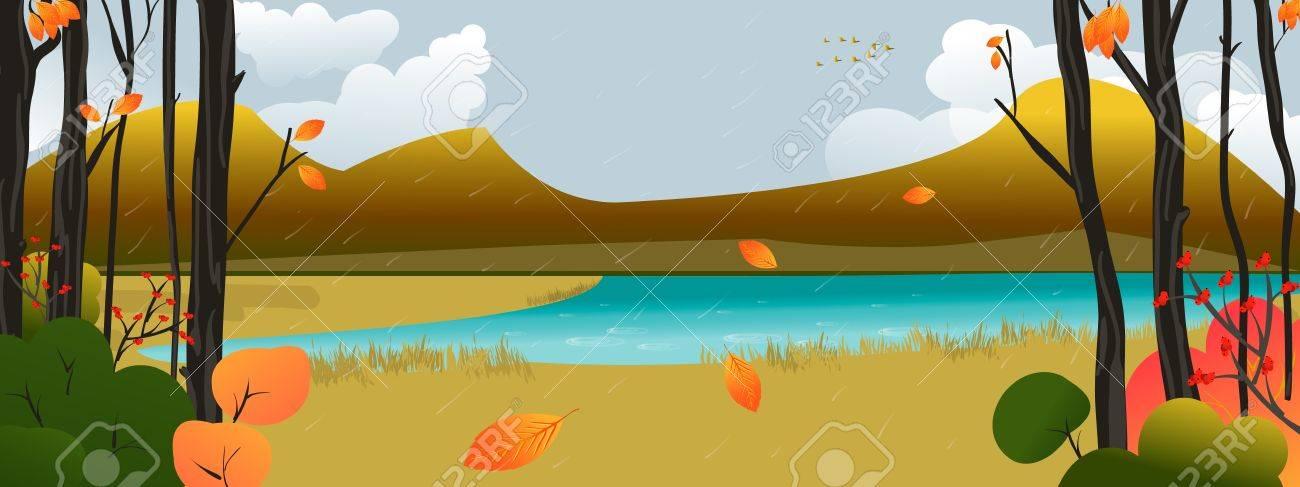 Autumn Scene Stock Vector - 11125588