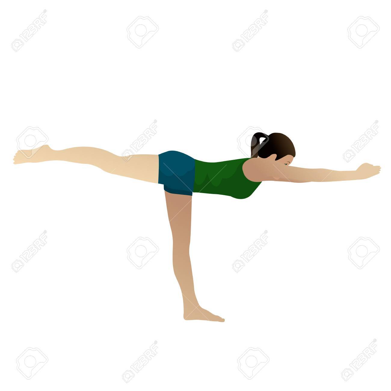 Young woman practicing yoga half moon posture, isolated on white Stock Photo - 12867969
