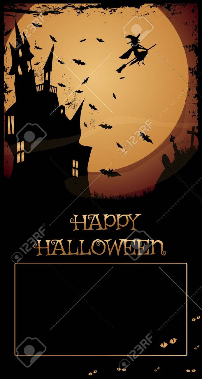 Halloween Haunted House Night With Full Moon Haunted House Flying Royalty Free Cliparts Vectors And Stock Illustration Image 15567652