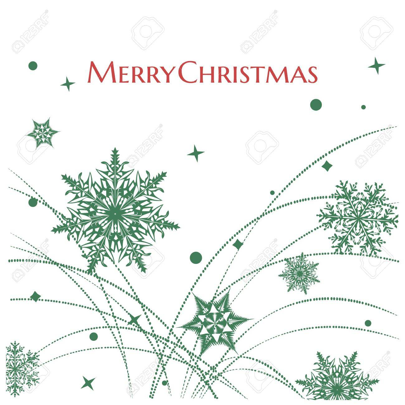 Simple elegant snowflakes background/Simple elegant snowflakes background with Merry Christmas greeting text Stock Vector - 15826373