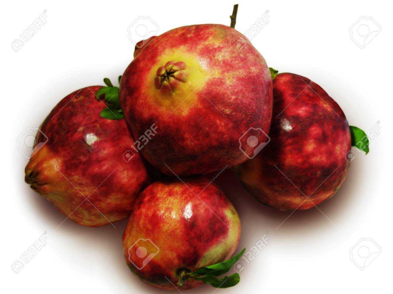Pomegranates/Big red pomegranates isolated on white Stock Photo - 17922972