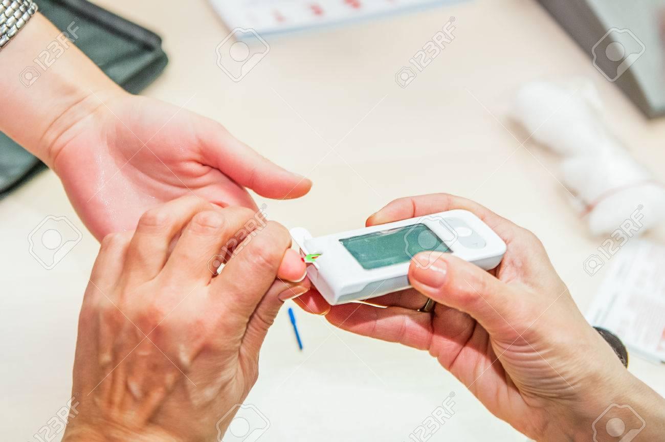 médico de pruebas de diabetes