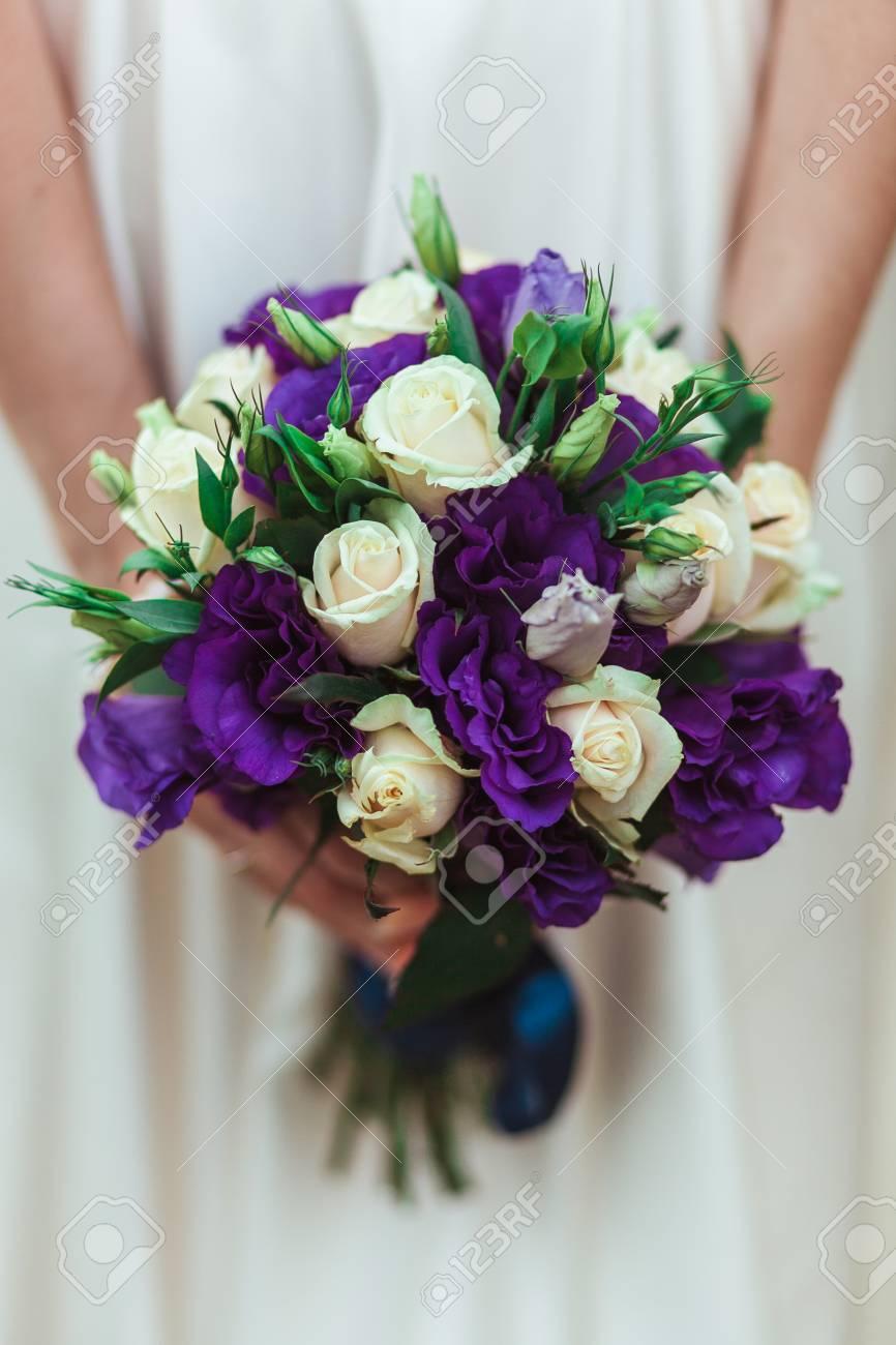 Mariee Tenue Mariage Bouquet Fleurs