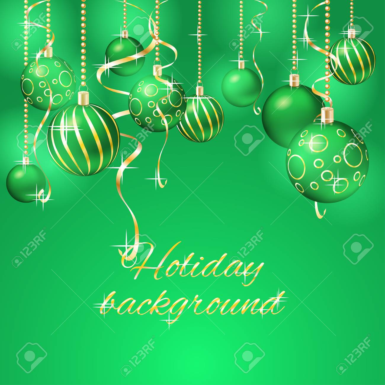 Elegant Christmas Background With Balls Stock Vector