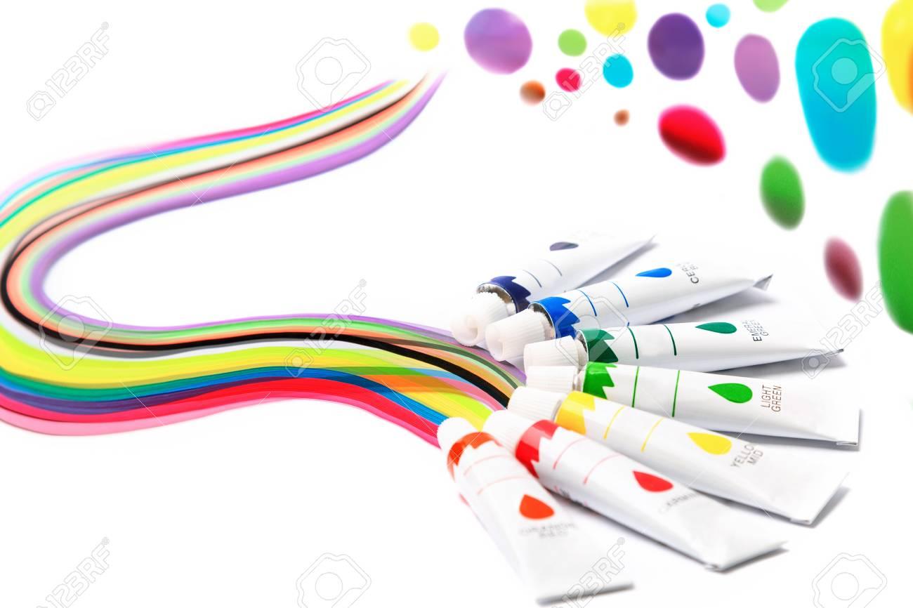 Peintures Colorées Pour Dessiner Arc En Ciel Gouache Pour La Créativité