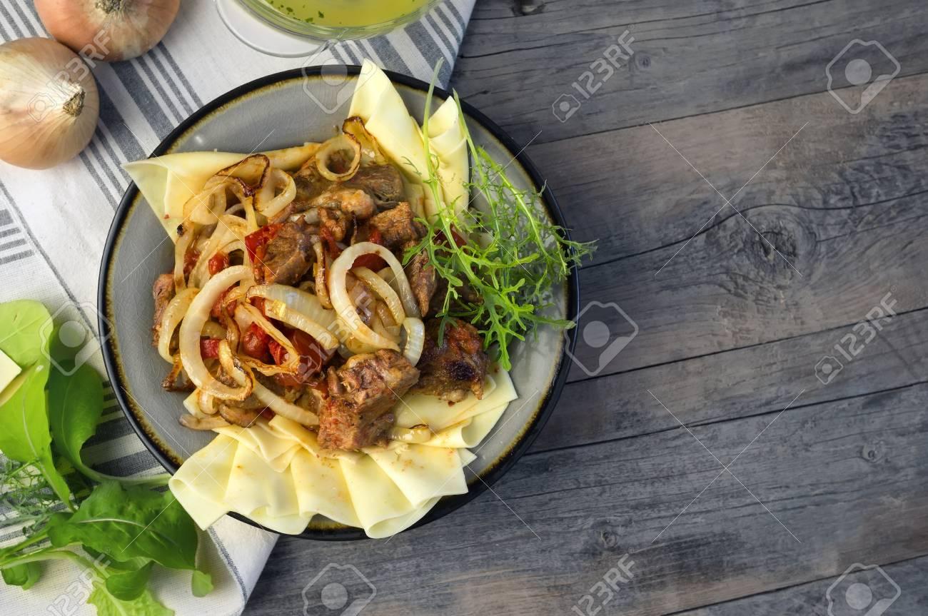Traditional recipe beshbarmak 62