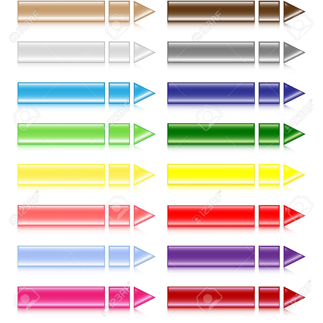 Set of different colored buttons Stock Vector - 6555159