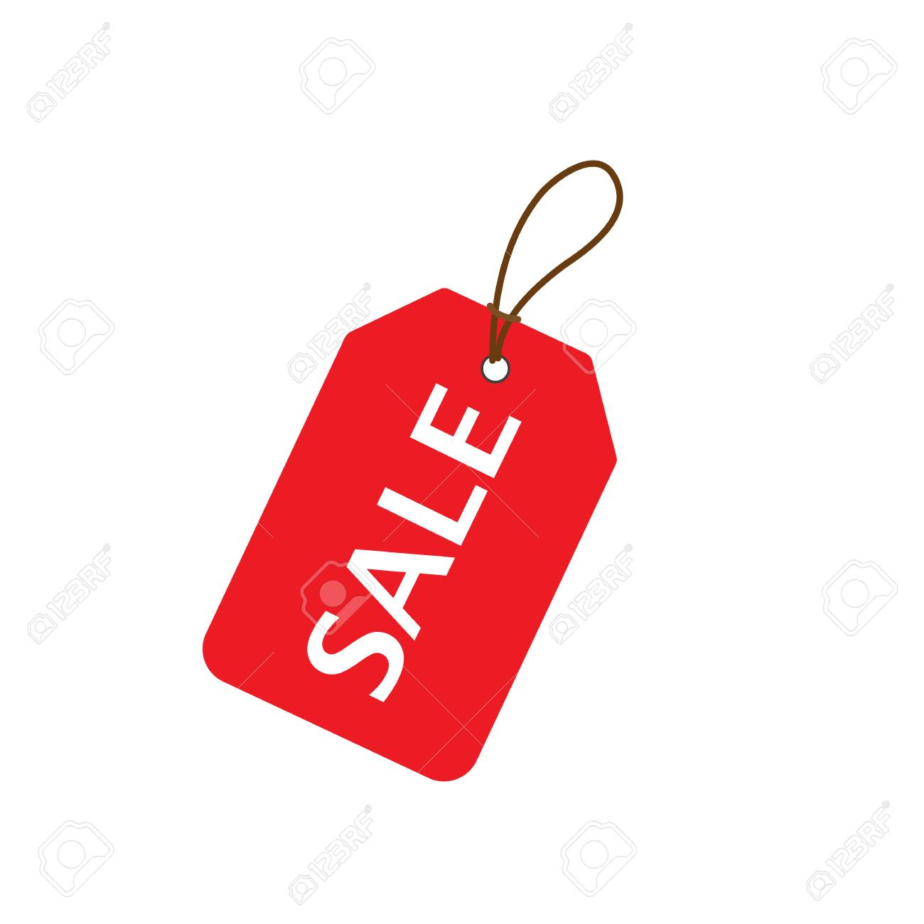 Red Sale price tag  Sale tag  Vector illustration