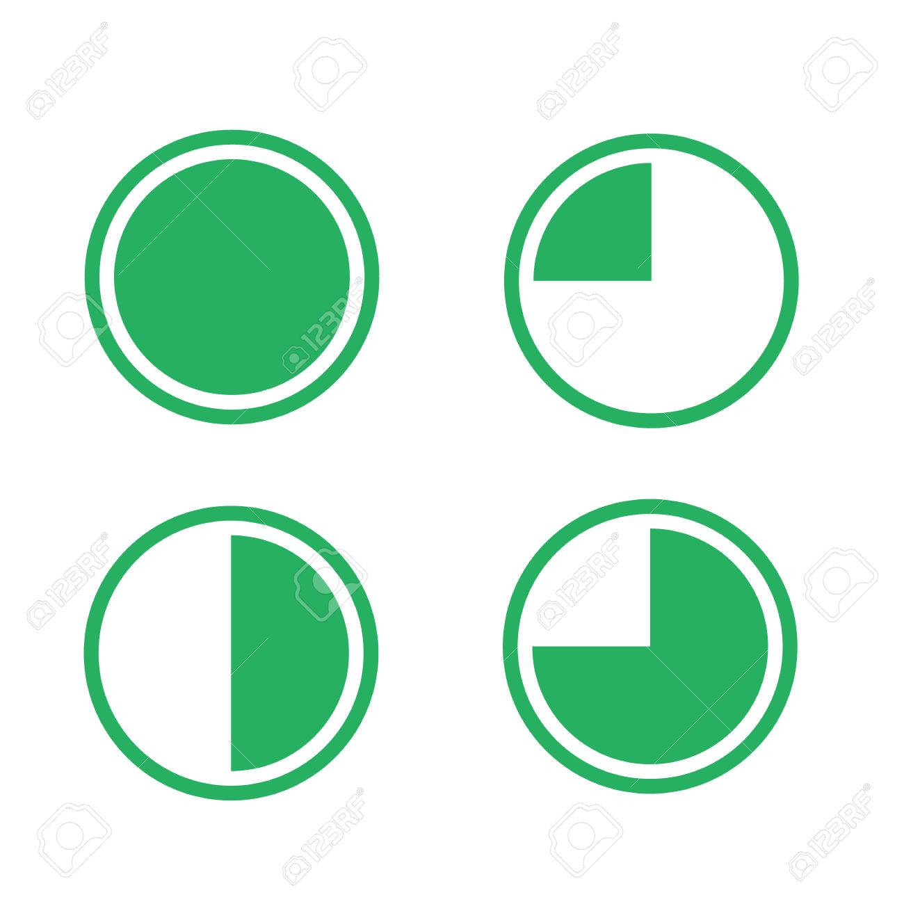 Icons pie graph circle percentage chart green 25 50 75 100 icons pie graph circle percentage chart green 25 50 75 100 set illustration round vector nvjuhfo Choice Image