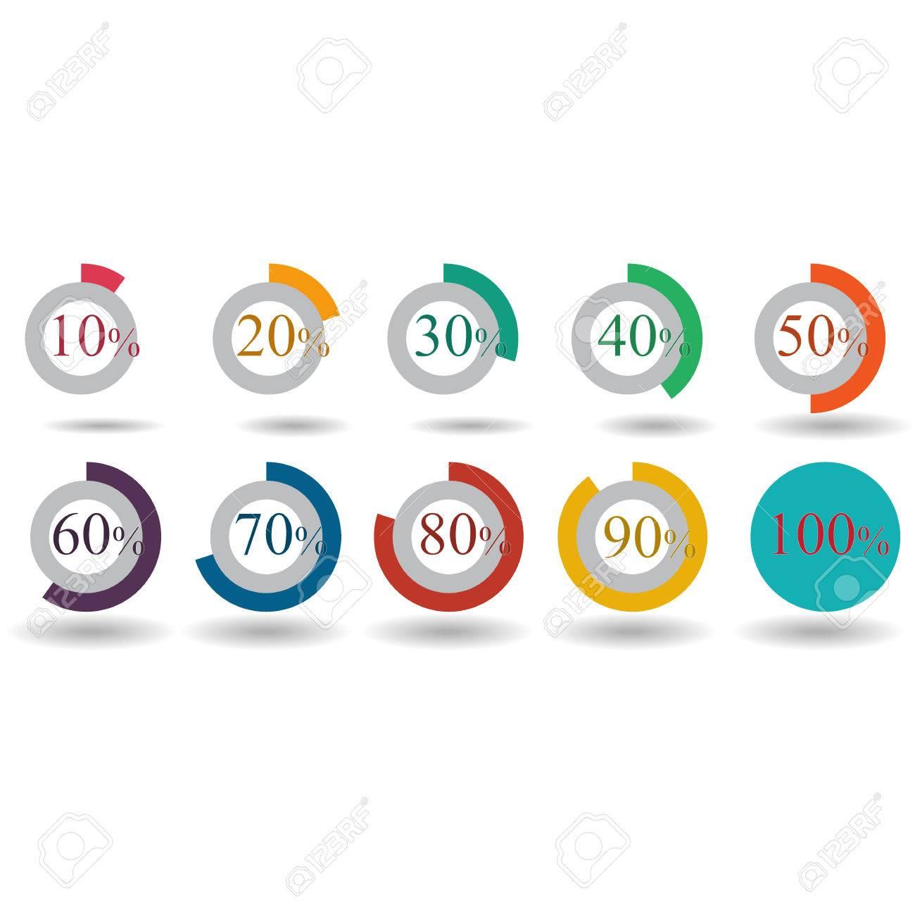 pie graph circle percentage chart 10 20 30 40 50 60 70 80 90