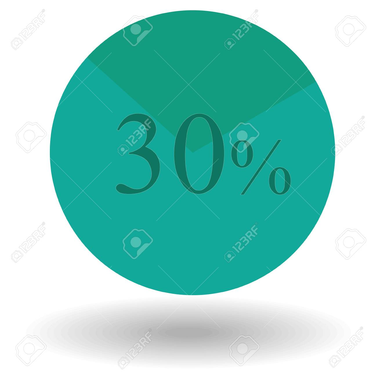 Business colorful pie chart circle graph 30 teal vector business colorful pie chart circle graph 30 teal vector illustration stock vector 63252749 nvjuhfo Choice Image
