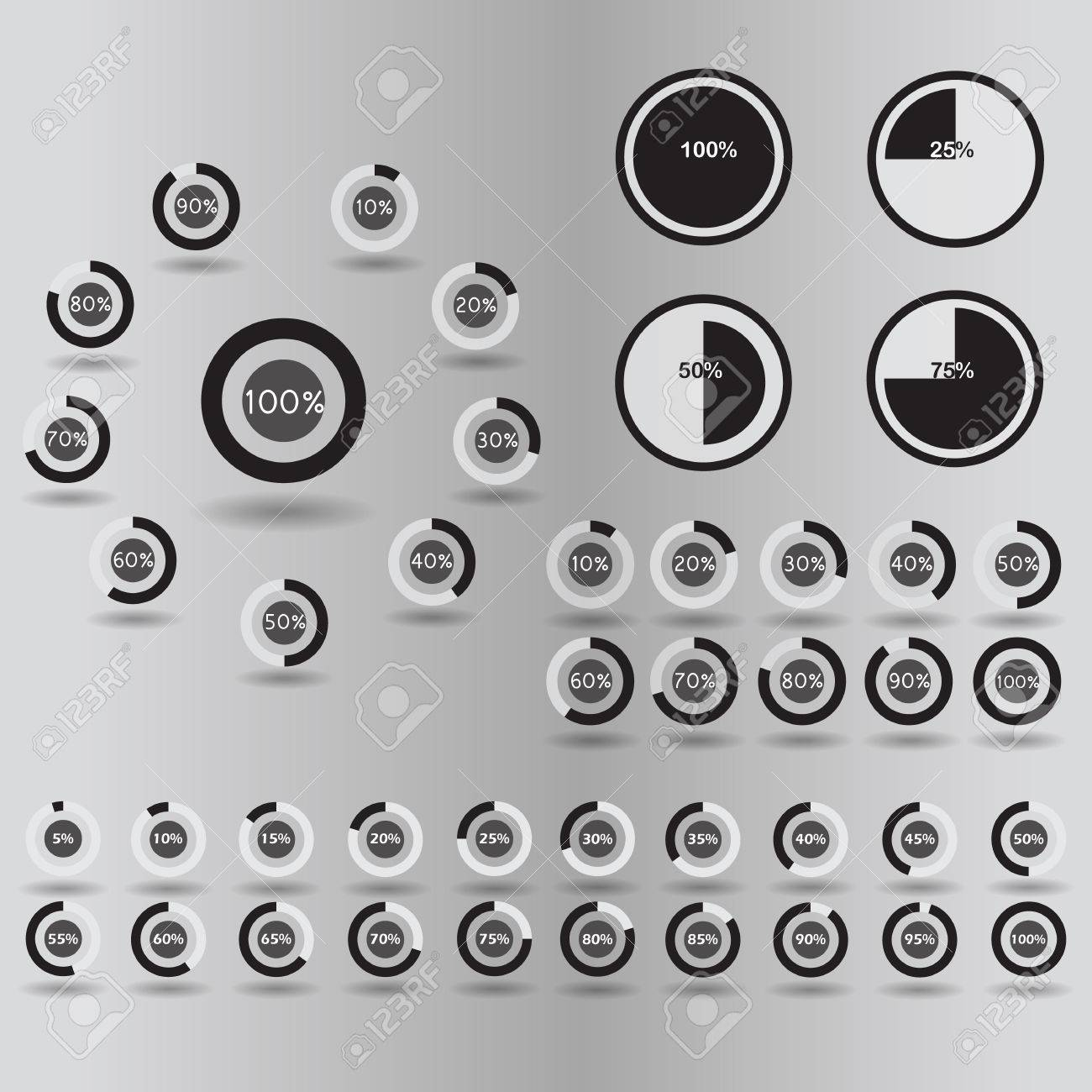 Negocios Iconos De Infografía Plantilla De Gráfico Circular Círculo ...