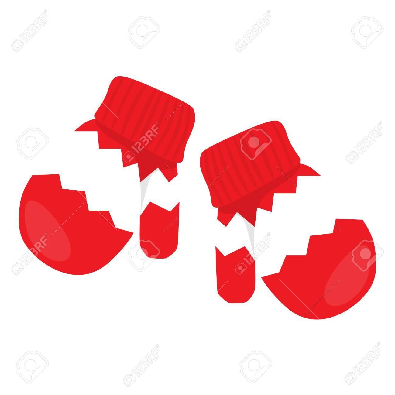 赤いミトンのイラストのペアのイラスト素材ベクタ Image 63816667