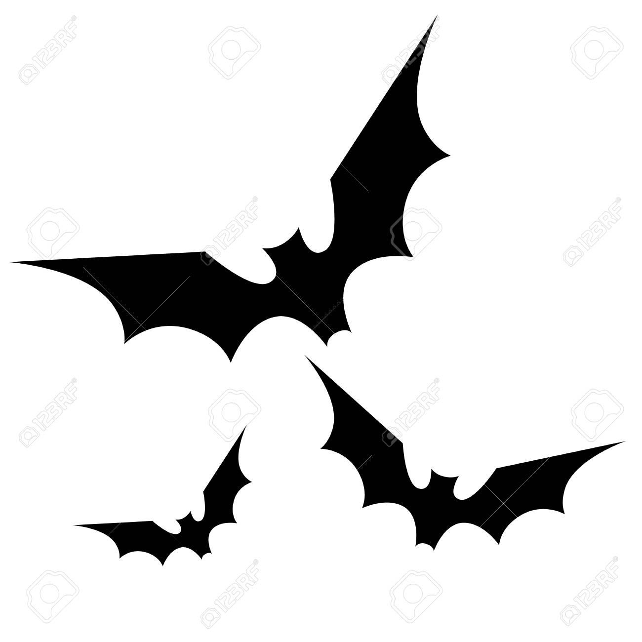 silueta de murciélagos negros silueta halloween spooky ilustración