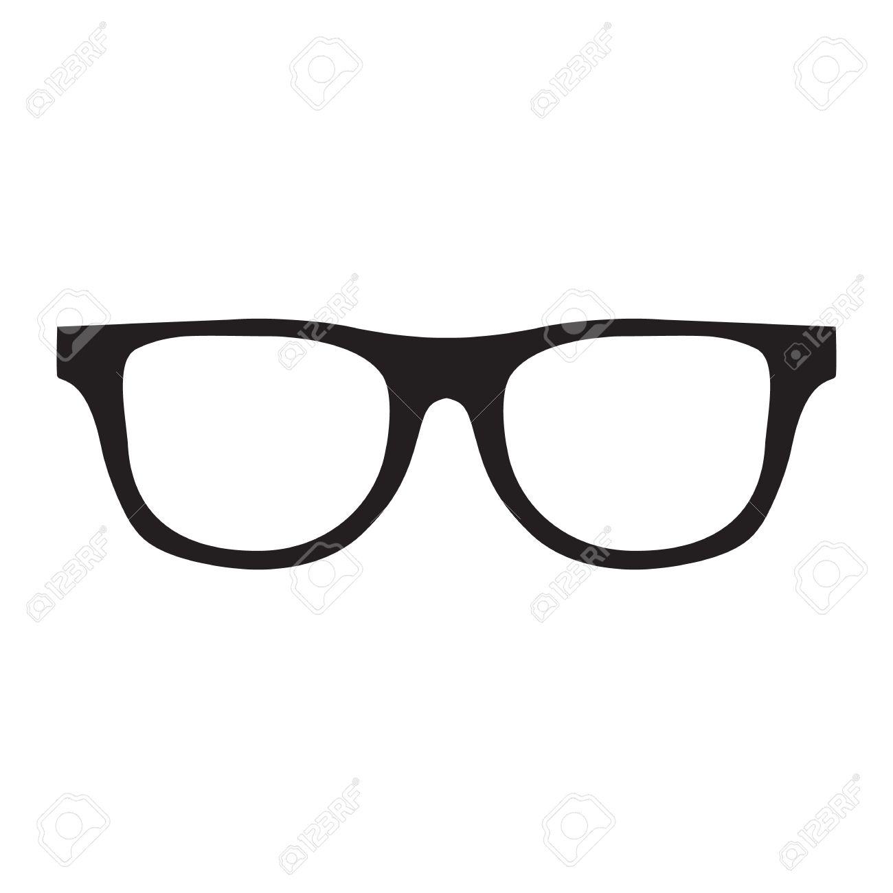 ec1f250c52 Hipster Glasses Icon. Unisex glasses black. raster illustration Stock  Illustration - 69162859