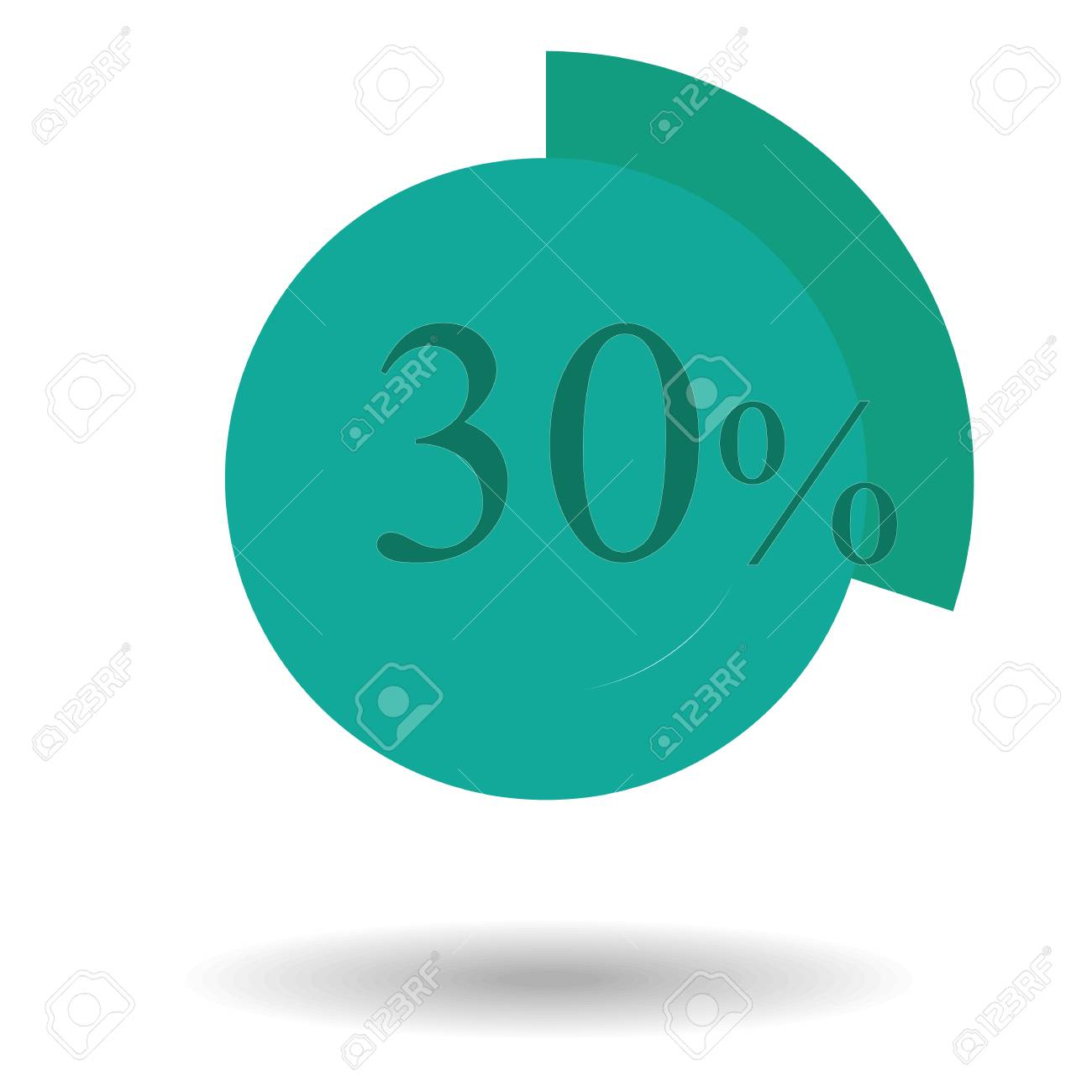 Business Colorful Graph Pie Chart Circle Graph 30 Teal