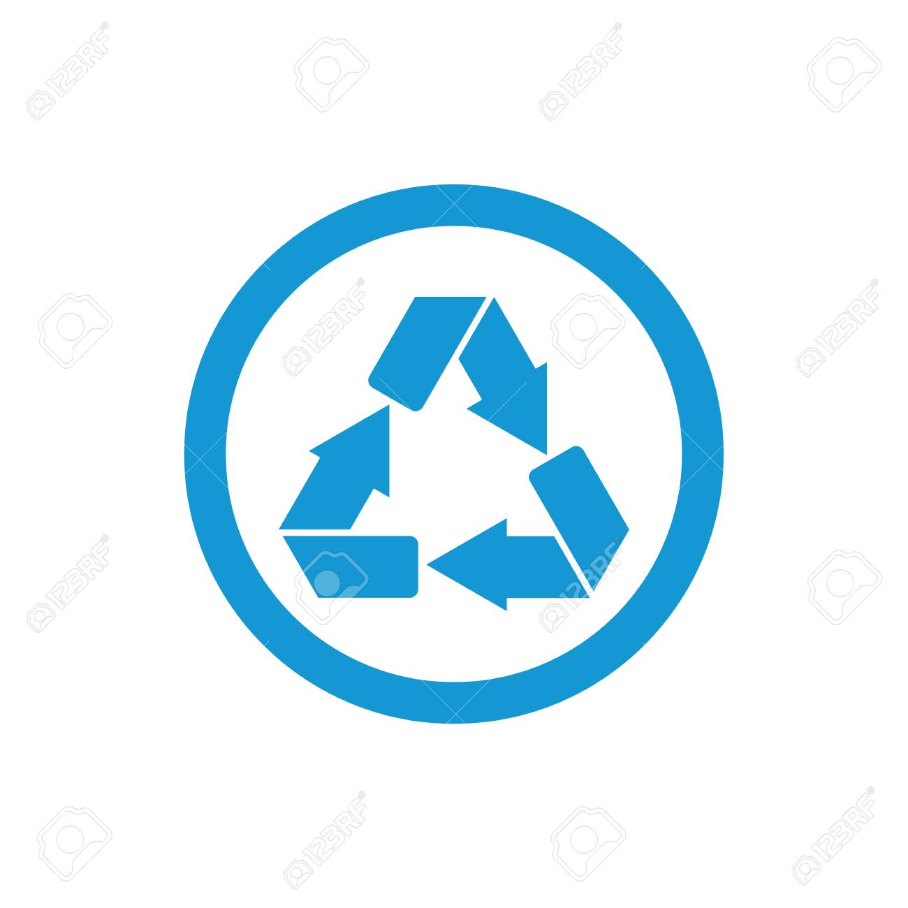 Recycle symbol or sign of conservation blue icon isolated on stock recycle symbol or sign of conservation blue icon isolated on white background raster symbol on buycottarizona Choice Image