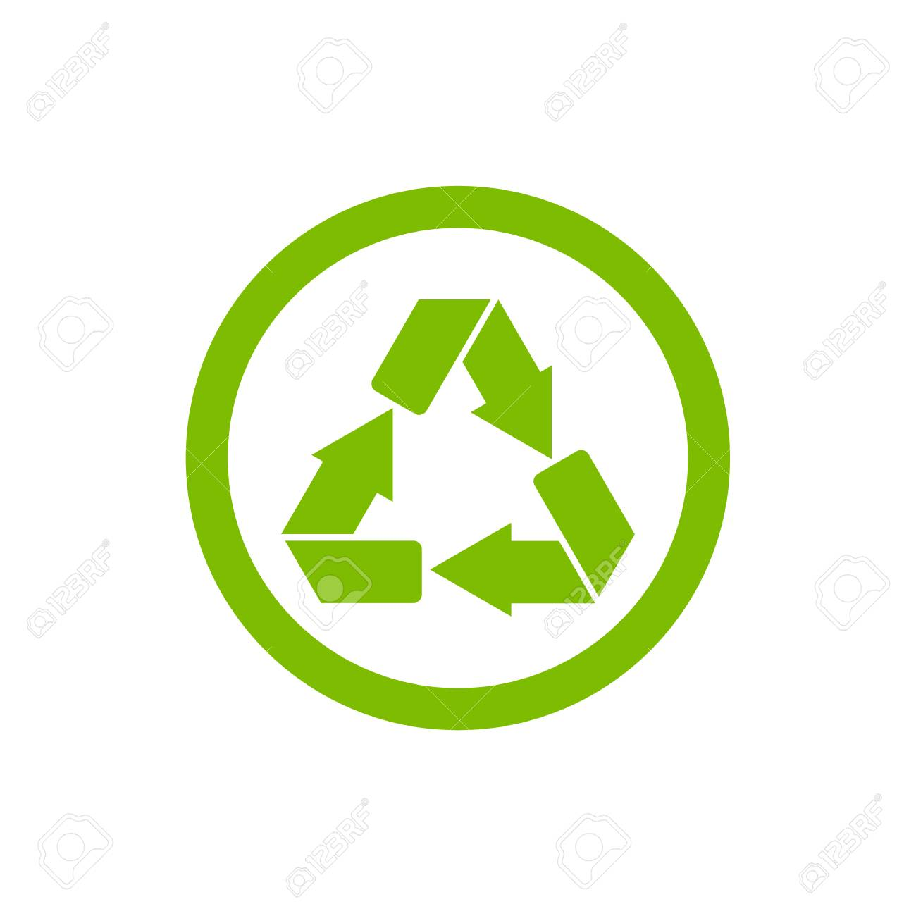 Recycle symbol or sign of conservation green icon isolated on recycle symbol or sign of conservation green icon isolated on white background raster symbol on buycottarizona Images