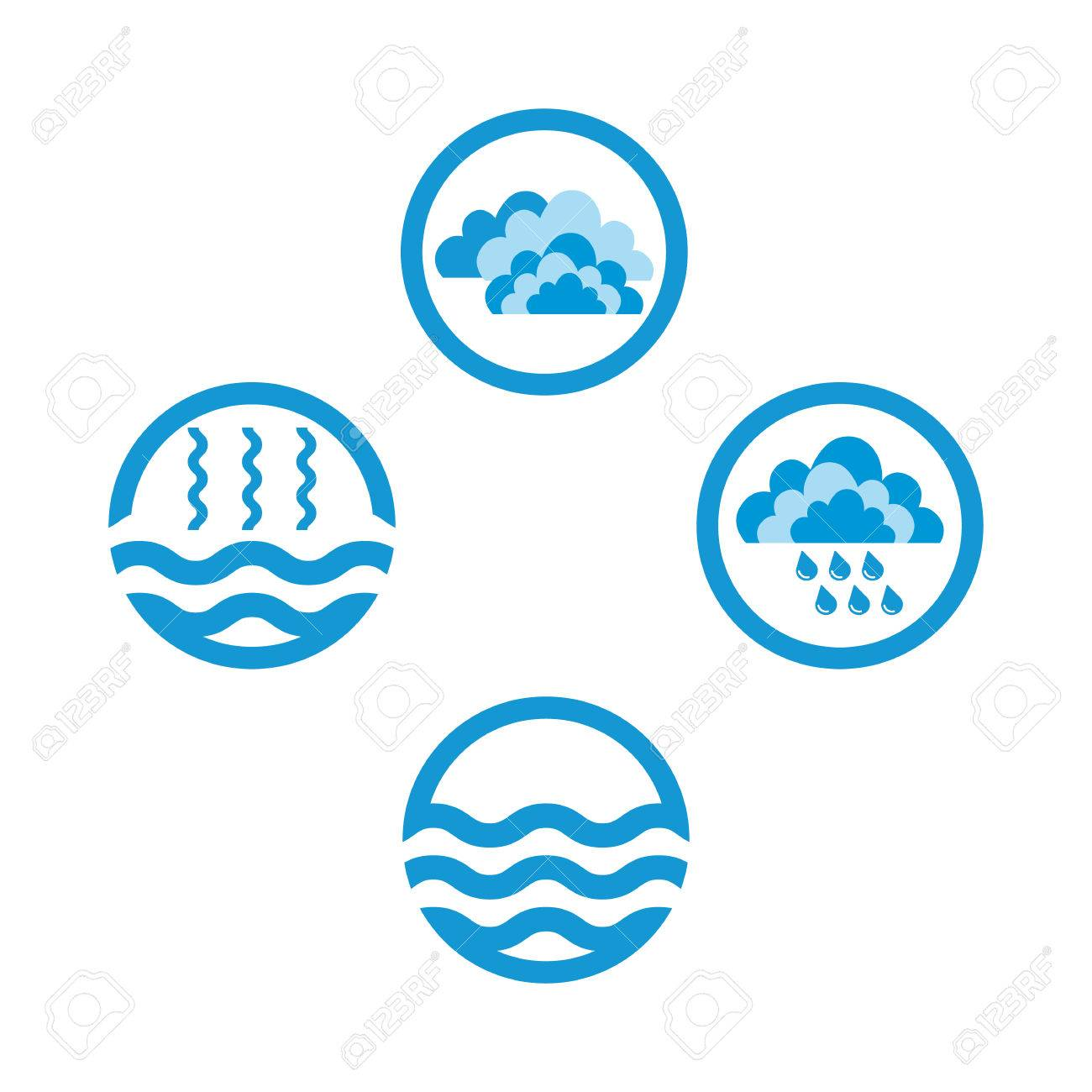 Water cycle infographics the water cycle vector diagram of vector water cycle infographics the water cycle vector diagram of precipitation collection evaporation and condensation icons set vector illustration ccuart Image collections