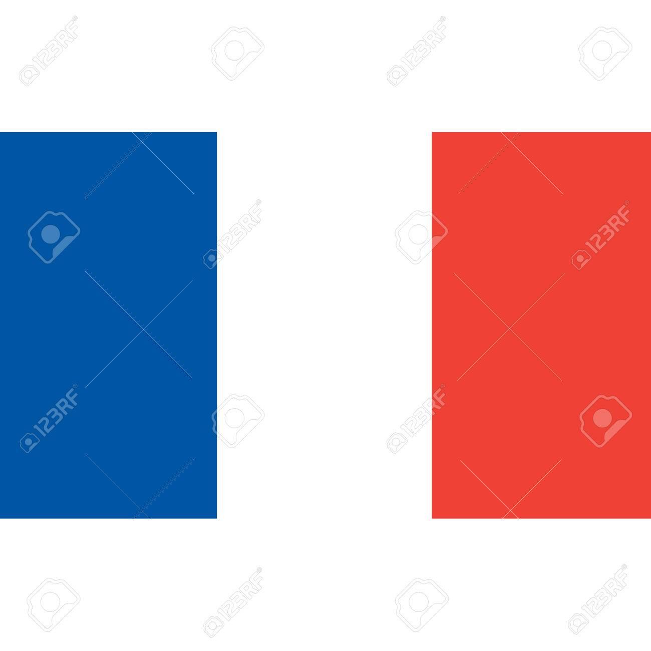フランス国旗公式色と割合正しくフランスの国旗フラットのベクター