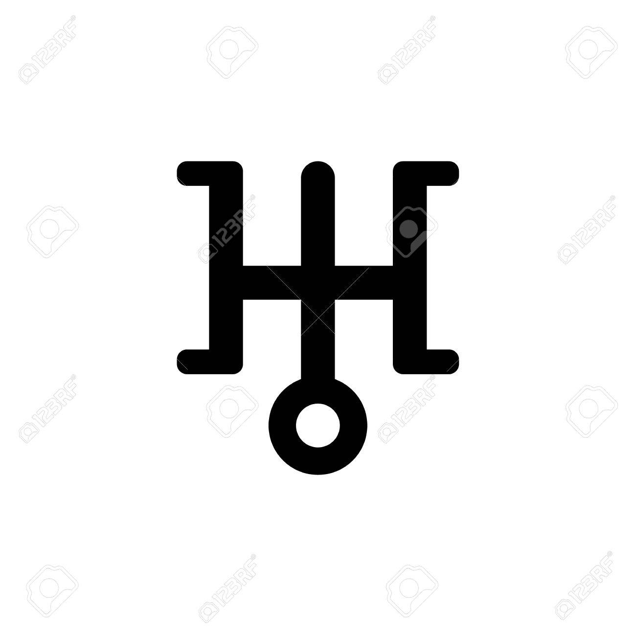 Astronomical symbol of uranus black sign isolated on white astronomical symbol of uranus black sign isolated on white background vector illustration stock vector biocorpaavc Gallery