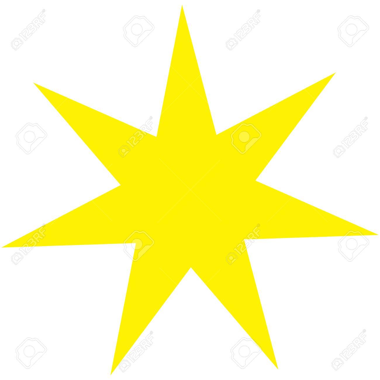 Sacred Geometric Symbol Of Seven Pointed Star Plexus. Golden.. Stock ...