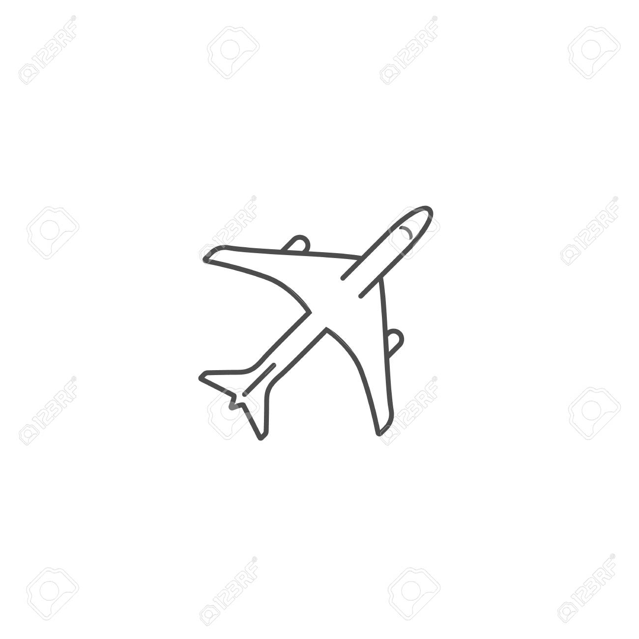 Simple Jet Clipart Black And White Best Free Library