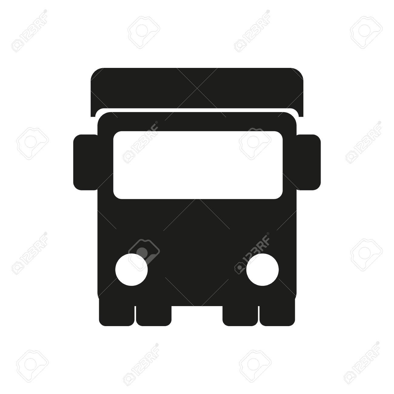 Carro De Icono Simple Silueta Sobre Fondo Blanco. Transporte ...