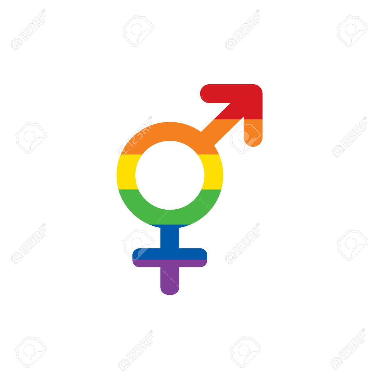 Lgbt Rainbow Colors Mars And Venus Both Symbol Transgender Symbol