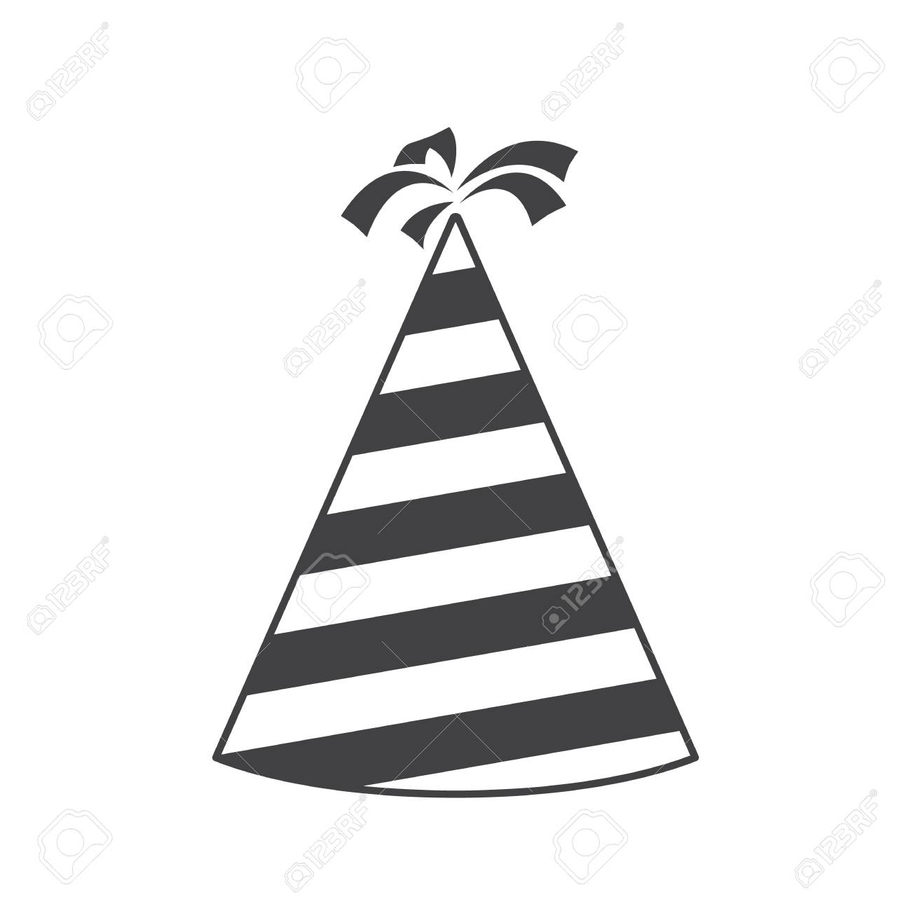 Party Hat Cone Silhouette Icon Accessory Symbol Of The Holiday