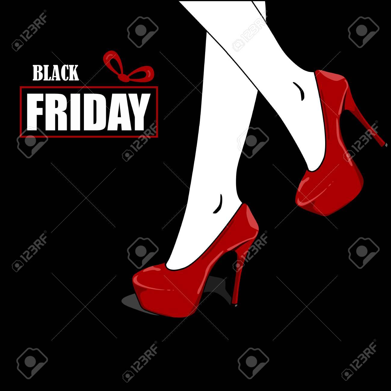 Black Friday Sale Poster. With Elegant