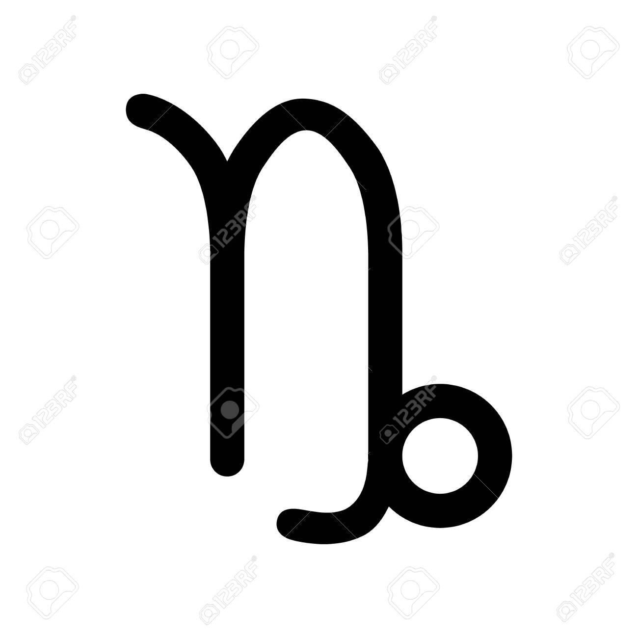 Zodiac Sign, Astrological Symbol, Icon. Capricorn. Royalty Free ...