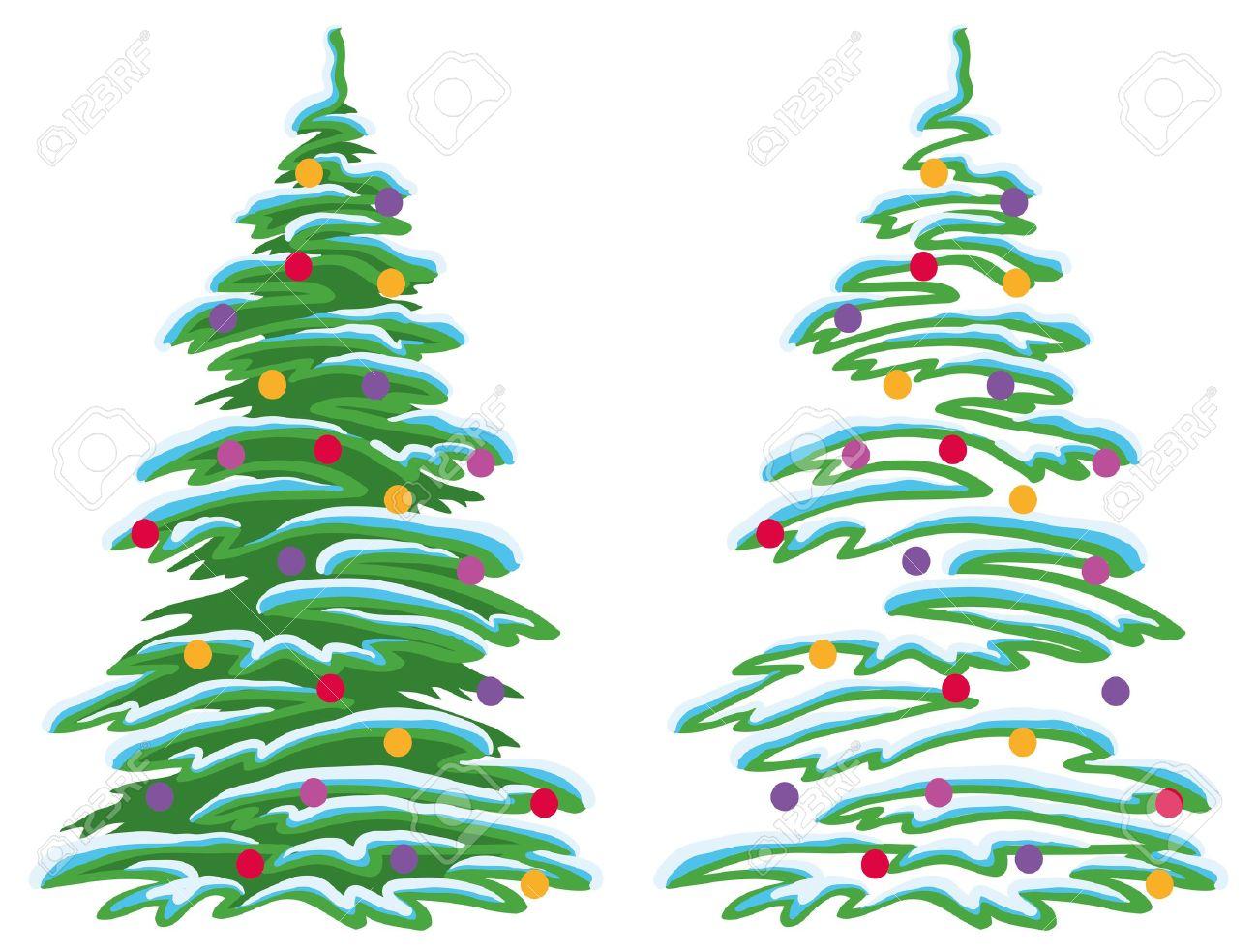 foto de archivo navidad rbol de navidad con adornos bolas y estrellas vector