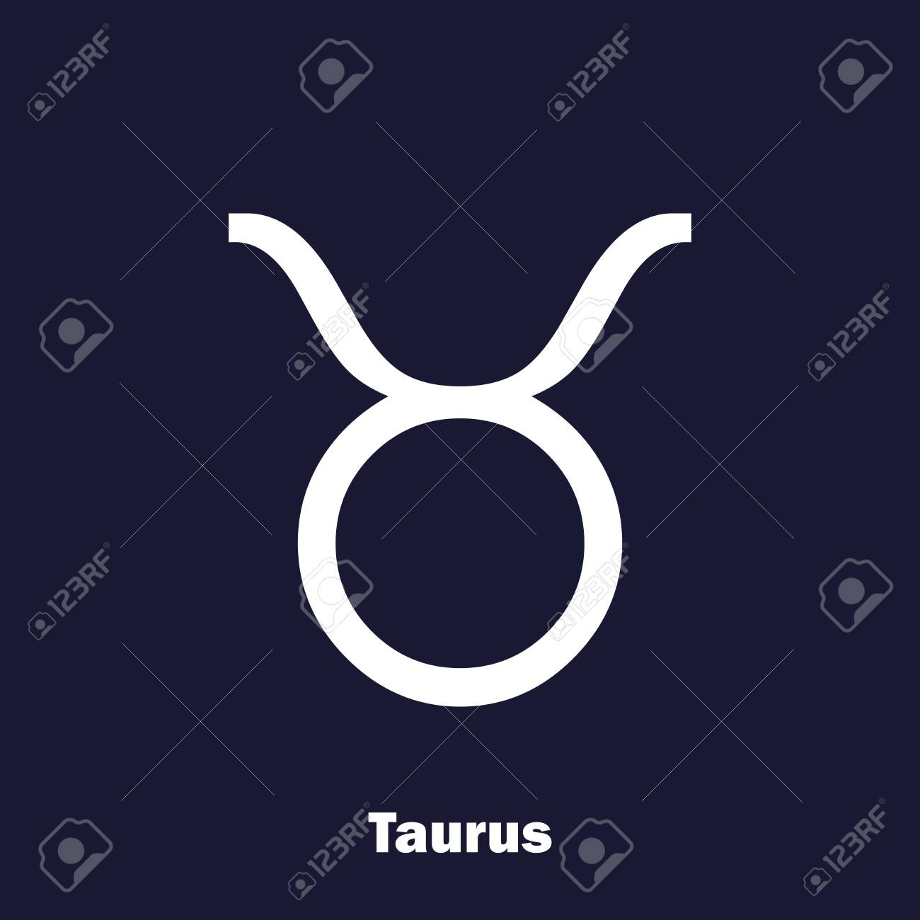 Taurus Zodiac Sign Astrological Symbol Royalty Free Cliparts