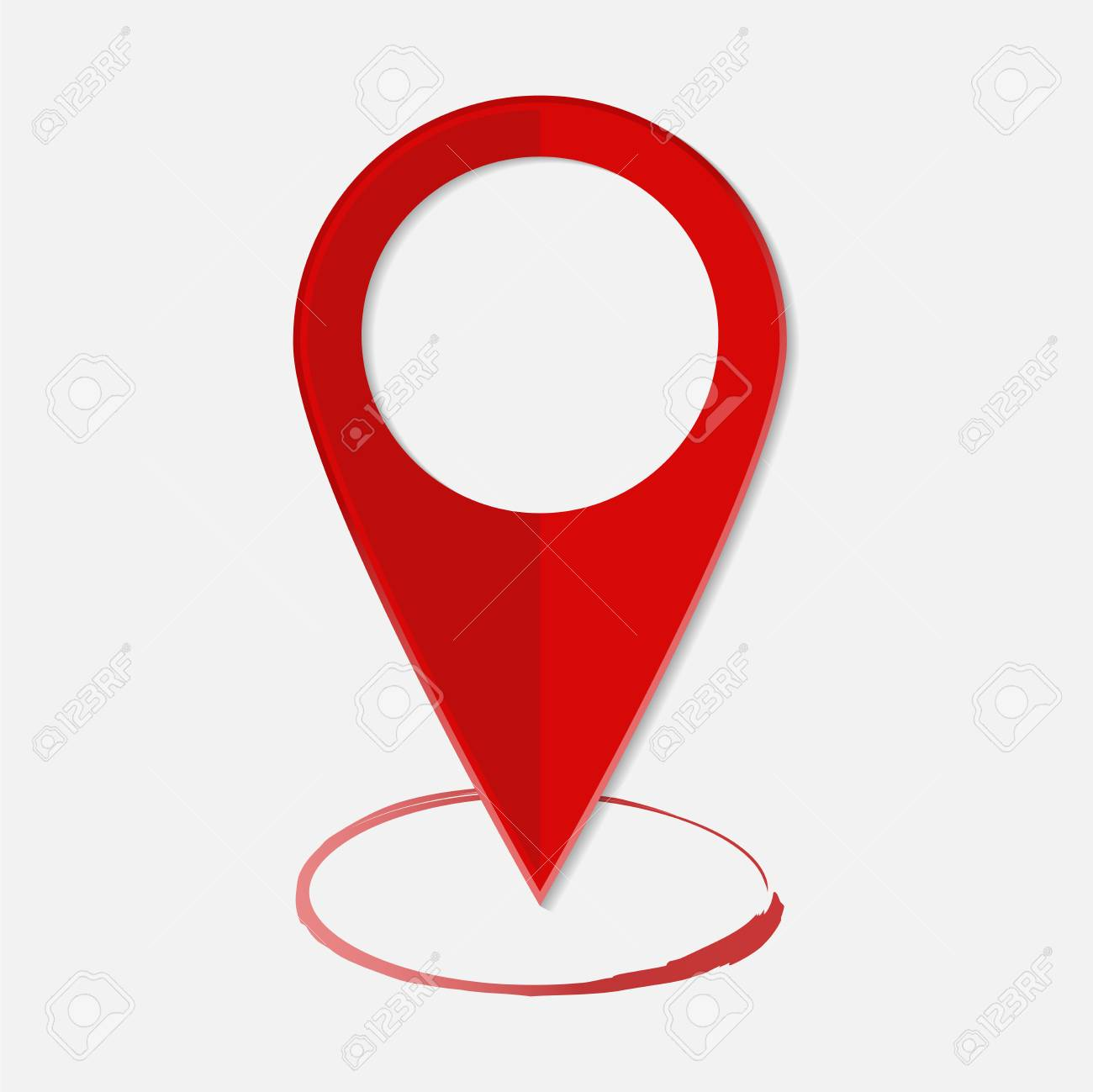 vector image positioning on the map mark gps icon red icon