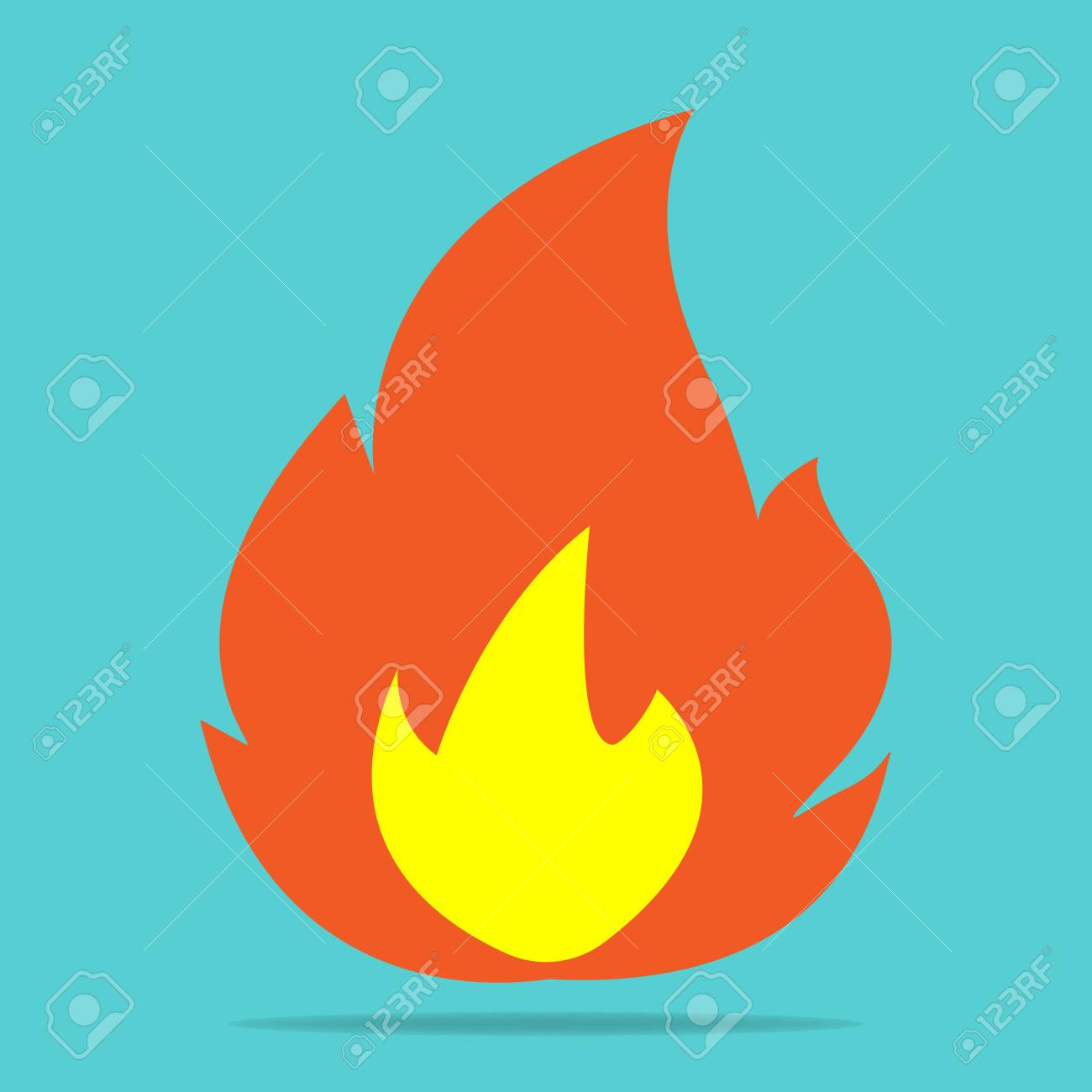 Vector Icon Fire Flames A Symbol Of Fire Hot Multicolored
