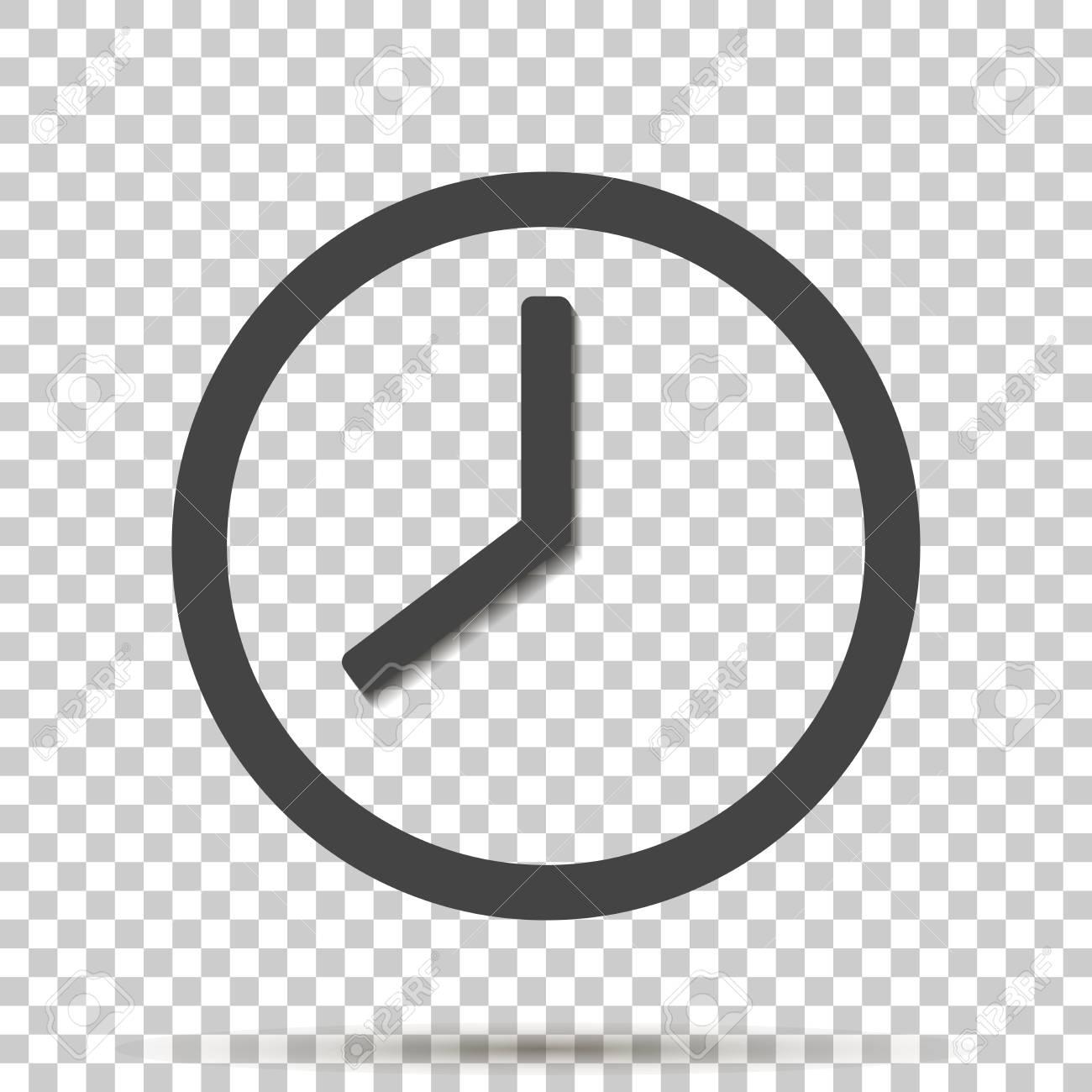 Clock icon on transparent background