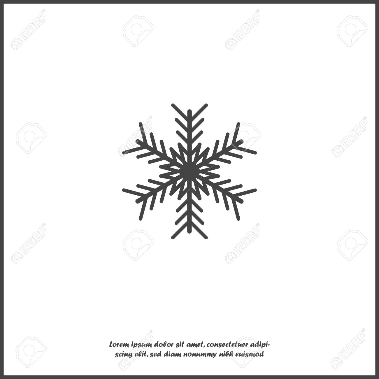 Vector image snowflake  Snow icon  Snow in winter on white isolated