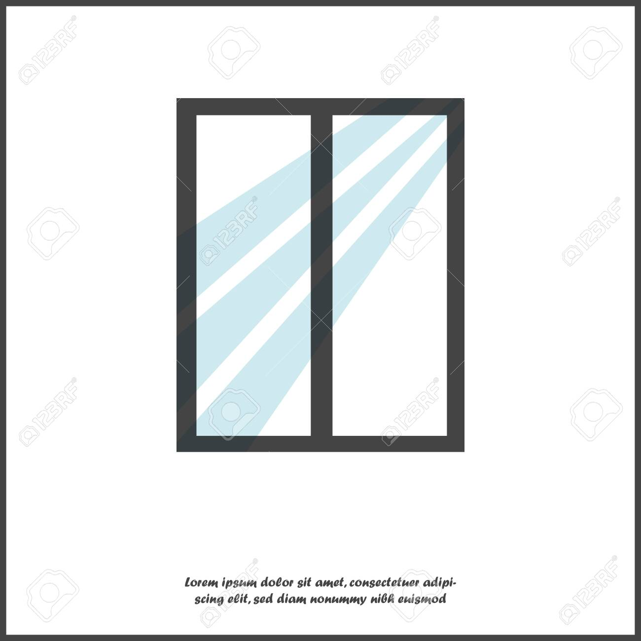 Window vector illustration on white isolated background. Layers grouped for easy editing illustration. For your design. - 120667155