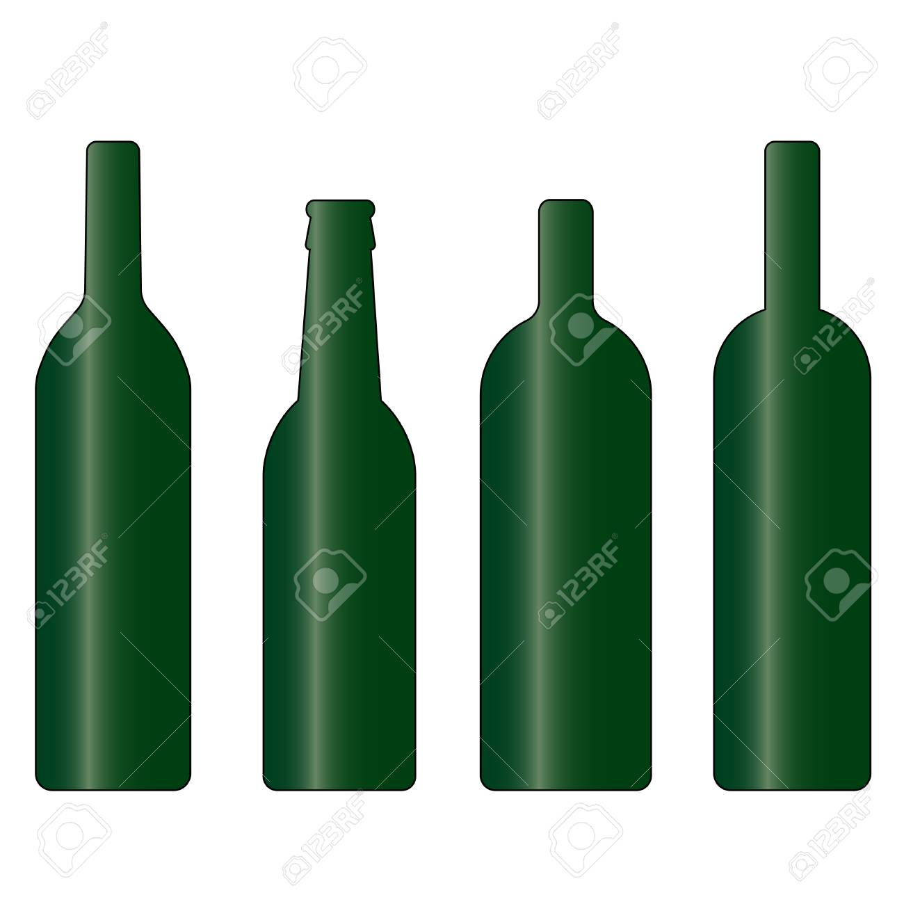 set of green wine and beer bottle vector background wallpaper rh 123rf com wine bottle vector png wine bottle vector image
