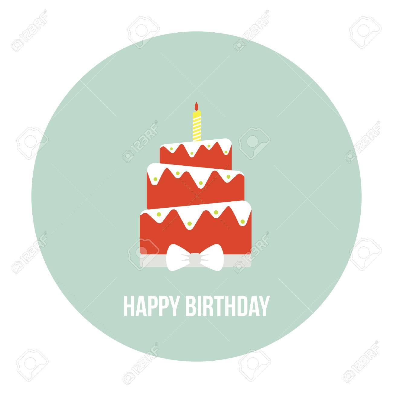 Astonishing Birthday Cake Illustration With Type On A Circle Background Funny Birthday Cards Online Amentibdeldamsfinfo