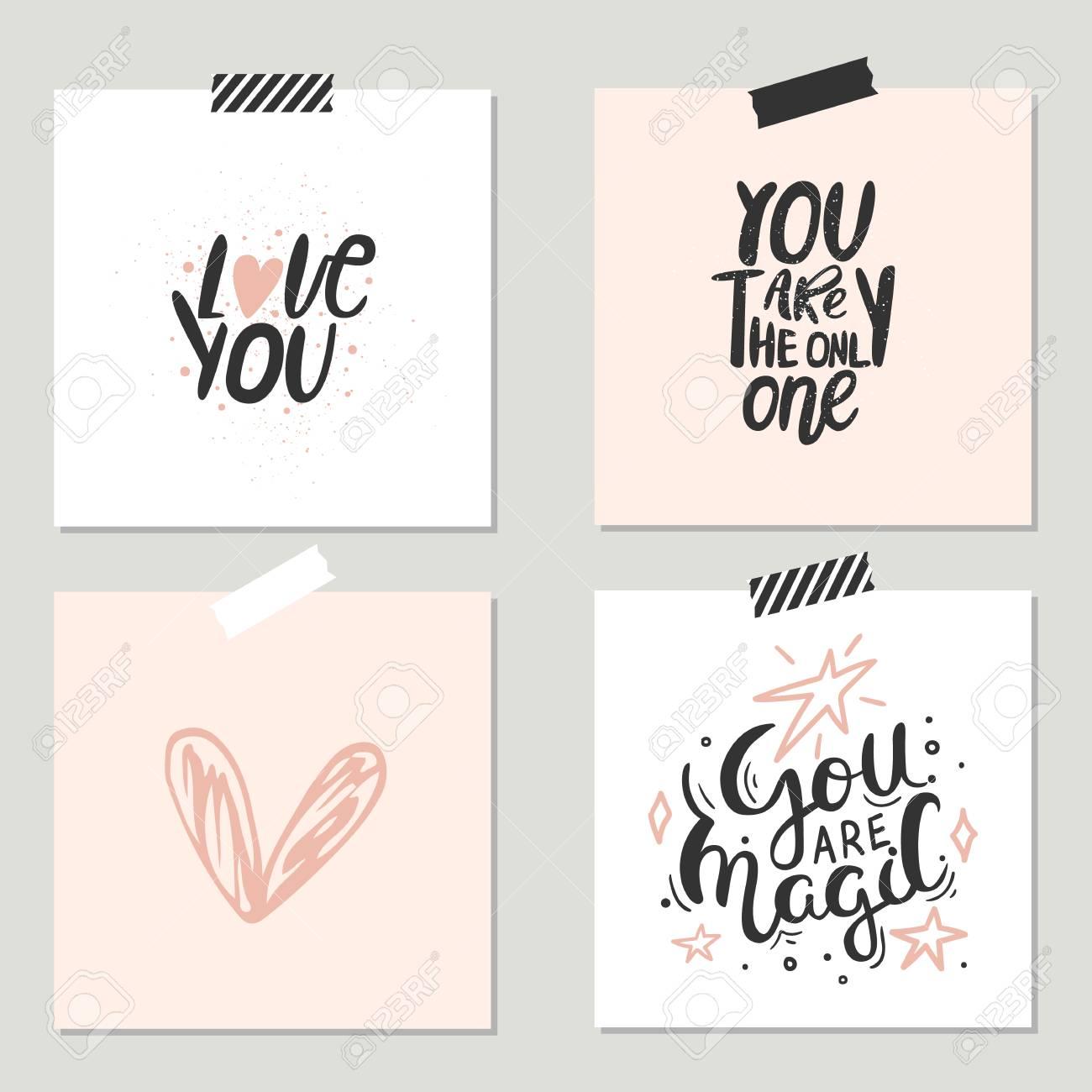 Unique hand lettering romantic quote for design greeting cards unique hand lettering romantic quote for design greeting cards photo overlays holiday invitations m4hsunfo