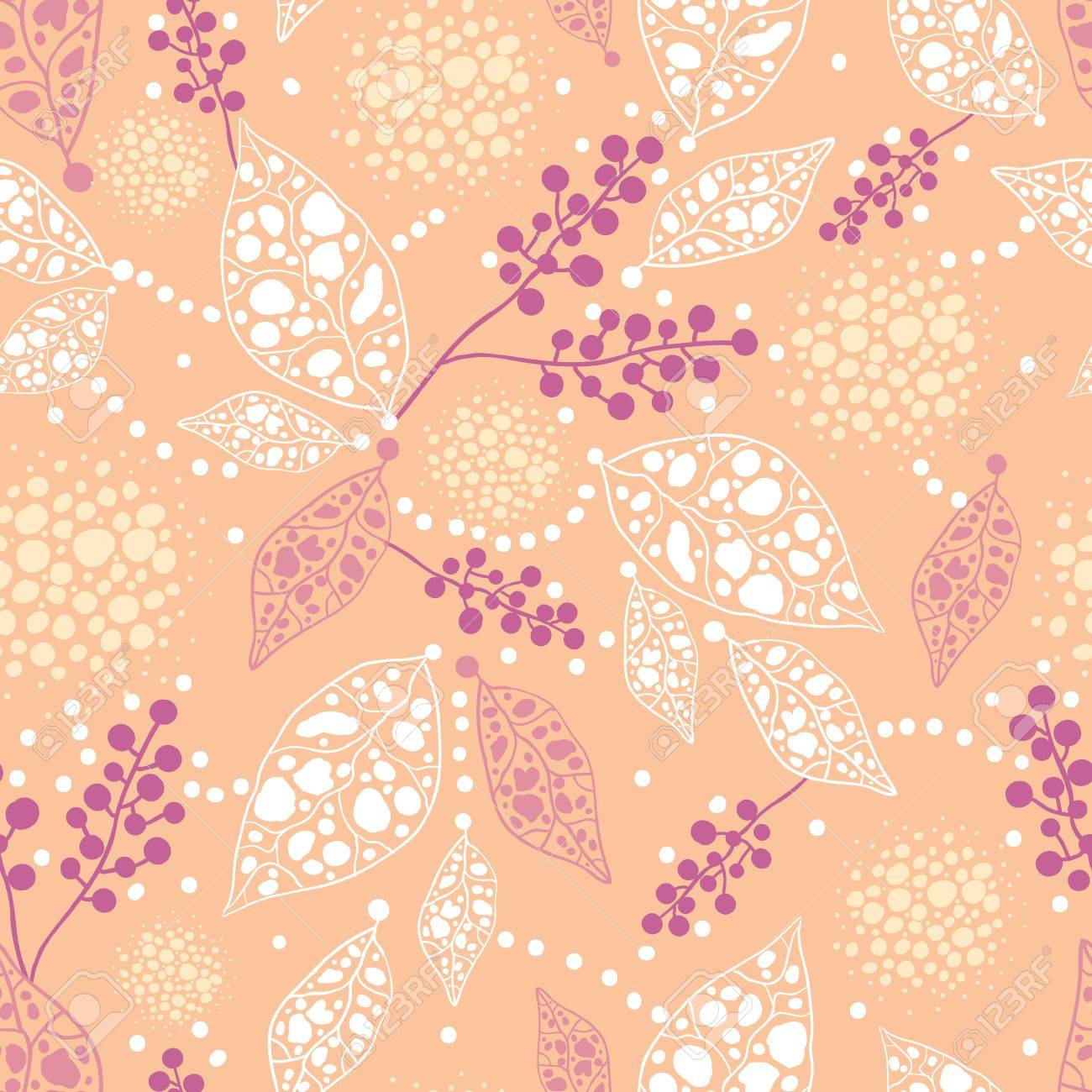 Abstract Leaves Seamless Pattern Background Stock Vector - 16446311