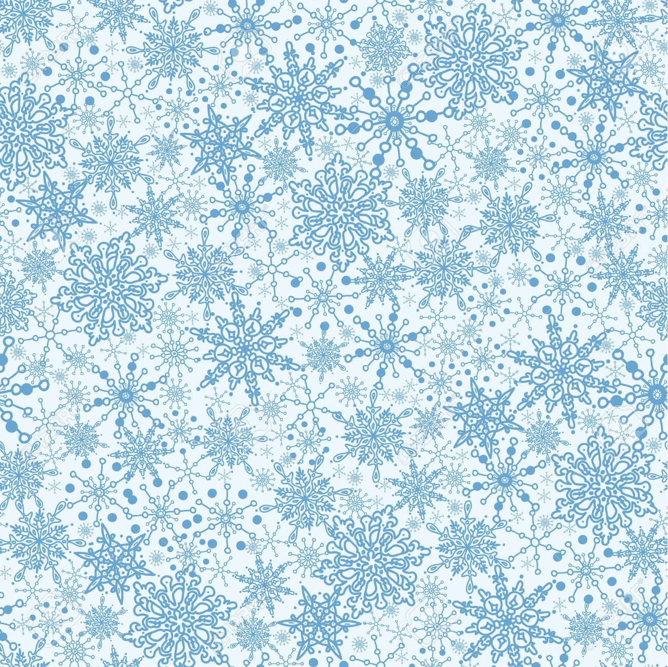 Snowflake Texture Seamless Pattern Background Stock Vector - 16446376